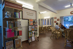 Reading room at Gyaan Adab centre