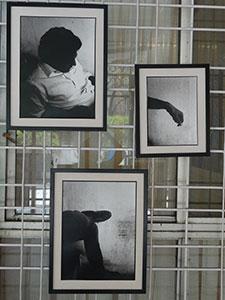 Glimpse of Artist Cyril's reflective Art