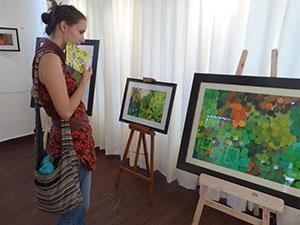"""An admirer of artist Saket's work - theme """"Water gardens"""""""