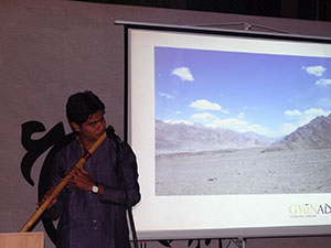 Deepak Bhanuse's soulful flute recital.