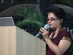 Our patron Vineeta Shetty reciting poems