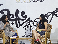 Aryaa in discussion with the author about the book and the inspiration behind it