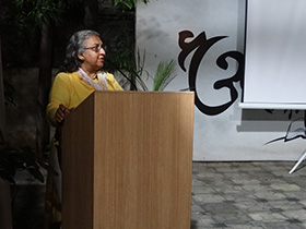 Film scholar Gayatri Chatterjee led a discussion after the film