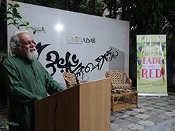 Mr. Randhir Khare introduces the young author, Reshma Krishnan Barshikar