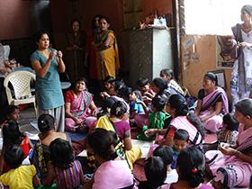 Learning to make ganpati idols