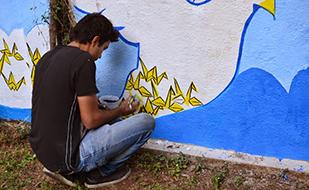 Graffiti artist Kartikeya Sharma gets creative