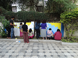 Community art in the making