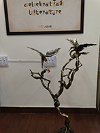 A statement piece created from a real tree