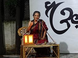 Kala Ramesh reciting her eloquent poems