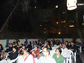The audience was charmed by the magic of Gandhar and Vinay's music