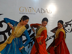 Dancers from Shambhavi International School of Kathak dance to a track by Bikram Ghosh