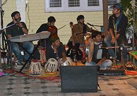 The musicians with their soulful interpretation of Ghalib's verses