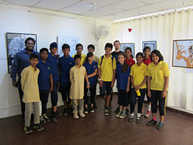 Students from Aman Setu school