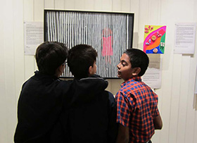 RBA - Student's from Rewachand Bhojwani Academy discuss an art work