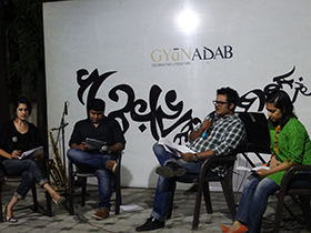 Dramatic reading of the novel's colourful characters by Neeti Pherwani, Sumedh Sarojini, Saurabh Dalmiya, Priyanka Menon