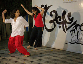 Pooja and Karishma in a spontaneous movement medley