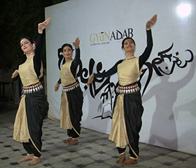 The dancers graceful performance was set to indo-western fusion music