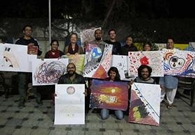 The outcome of Swati's workshop 'Creative Blocks'