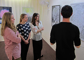 Swedish social work students - Sam discusses his work with Swedish social work students