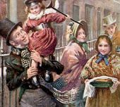 The Cratchit's Christmas Dinner