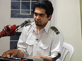 Hardik Vaghela on keyboards