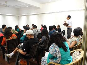 The participants read their written work