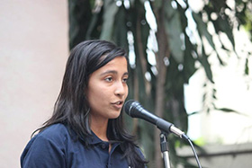 Manasi Nene performs a poetry