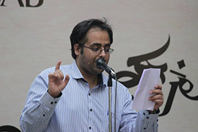 Tushant Mirchandani performs a poetry