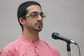 Zeeshan Wadiwala stunned the audience with his poetry