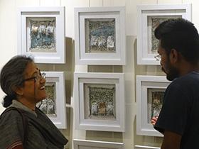 The artist in conversation
