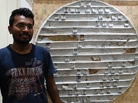 """Artist Jitendra Thorat with """"A World of Addiction"""""""