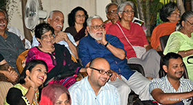 The audience enjoying the performances