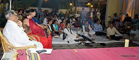 Audience await a poetic evening
