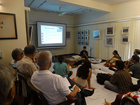 Participants learning the concepts of classical music