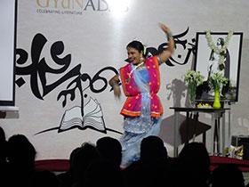 Moments from Tagore's dance drama 'Bhanusingher Padabali'.