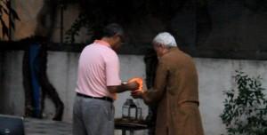 The lamp-lighting ceremony.