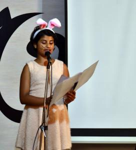 Lavanya recites 'The Walrus and the Carpenter'.