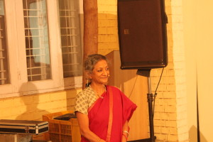 Kala Ramesh looks on as the Centre is set for another soulful evening.