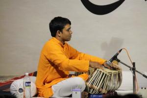Mehul Chaure on the tabla.