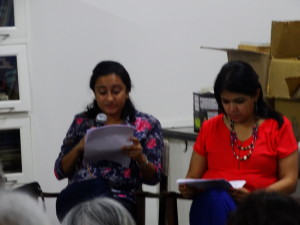 Keya and Aprajita read from 'The Portrait of the Artist as a Young Man'