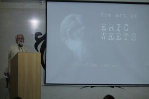Randhir Khare introduces the artist.