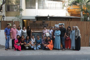 The Gyaan Adab team poses with the students!