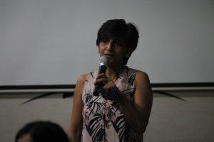 Nadia Sensharma introduces the event.